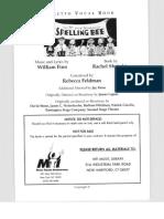 25th Annual Putnam County Spelling Bee - Libretto w. Vocal Book