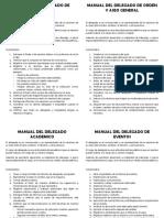 Manuales para delegados y brigadas del colegio SACO OLIVEROS