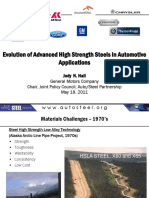 Evolution of Advanced High-Strength Steels in Automotive Applications