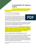 Feminicidio - Mexico