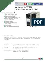 Ghm TVST500 01 E Manual