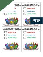 Elección Democrática Directiva Quinto Básico 2018