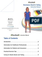 TheraBand Resistance Band-Tubing Instruction Manual