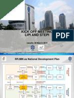 Presentation for Kick Off Meeting LIPI STEPI