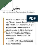 Corrupção – Wikipédia, A Enciclopédia Livre