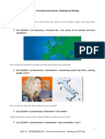 MAIL 18 – INTERMEDIATE – Countries and Cultures - Reading and Writing