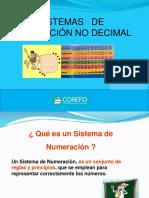 Sistema de Numeración No Decimal