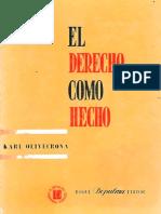 OLIVECRONA, Karl. El Derecho Como Hecho. Buenos Aires, Depalma,1959 (1)