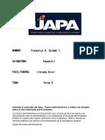 Francelys Guzman- tarea 9- Español 2