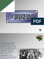 Le Saviez Vous (1)