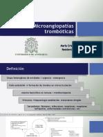 Microangiopatia Trombótica MAT - MCUB (1)