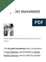 Six Point Movement - Wikipedia