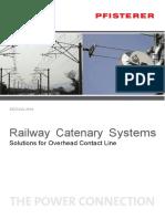 Catalogue PFISTERER Railway Catenary Systems 2016