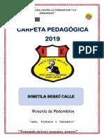 Carpeta Pedagogico Domi 2019