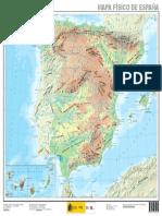 Espana Mapa Fisico de Espana