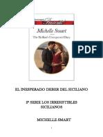 2 Serie Los Irresistibles Sicilianos - Michelle Smart – El Inesperado Deber Del Siciliano