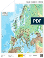 Europa Mapa Fisico de Europa 1 13.725.000