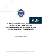 p32.Mv1 .Plan de Estudios Del Programa de Maestria en Ingenieria Mecanico Electrica Con Mencion en Automatica y Optimizacion