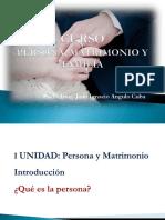 Persona, Matrimonio y Familia 2 Persona