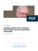 '02 Warren Buffett' Isn't Shorting Bitcoin_ New Crypto Loan Report Concludes