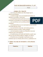 Guía de Trabajo de Educación Musical.78 y 8º