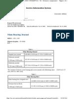 Muñón y Cojinete de Bancada Especificación