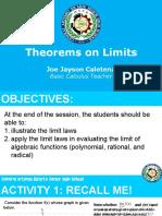 Theorems on Limits