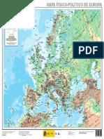 Europa Mapa Fisico Politico de Europa