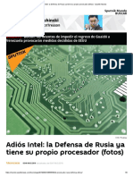 Adiós Intel_ La Defensa de Rusia Ya Tiene Su Propio Procesador (Fotos) - Sputnik Mundo