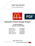 Mc Donalds Vietnam Strategic Analysis