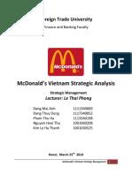 Mc Donalds Vietnam Strategic Analysis