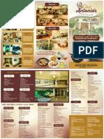 Chef Antonios Brochure.......