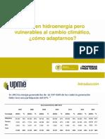 Ricos en Hidroenergia Pero Vulnerables Al Cambio Climatico