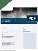Amazing Grace for TTBB Choir — NoteNova