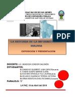 Historia de La Informatica en Bolivia