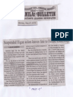 Manila Bulletin, May 27, 2019, Suspended Iligan solon leaves fate to House leadership.pdf