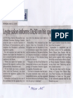 Manila Standard, May 27, 2019, Leyte solon informs Du30 on his speakeship bid.pdf