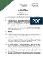 EDITAL Matrícula 2014 1