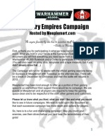 40 k Campaign Rules