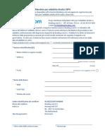 SEPA Direct Debit Mandate IT