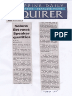 Philippine Daily Inquirer, Solons list next Speaker qualities.pdf
