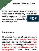 Capítulo 6, El Informe de La Investigación