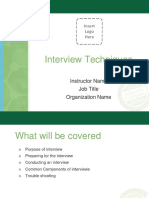 Interview Techniques Presentation