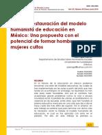 Reconsideración Del Humanismo en Mexico