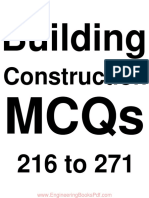 Building Construction MCQs 216 to 271