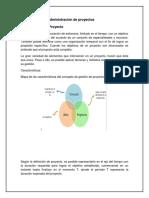Conceptos de La Administración de Proyectos Unidad 1