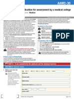 Medical Board Form Application for Assessment by a Medical College AAMC 30