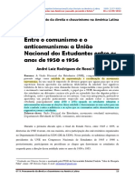 3 - Entre o Comunismo e o Anticomunismo a UNE Entre 1950 e 1956