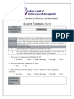 Student Feedback Form (ISTM)