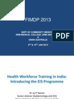 4_Health Workforce Training India - Introducing EIS Training Program